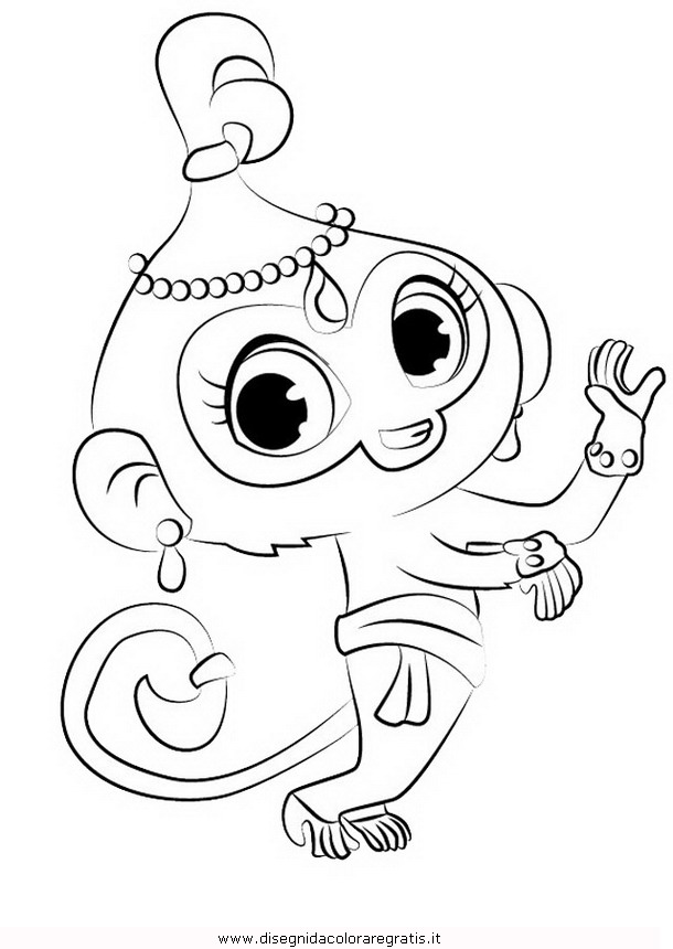 Disegno shimmer shine 03 personaggio cartone animato da for Shimmer and shine da colorare