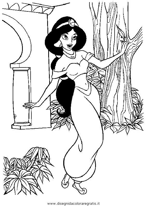 Disegno Aladdin18 Personaggio Cartone Animato Da Colorare