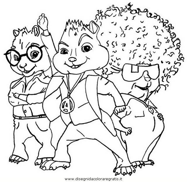 Disegno alvin chipmunk 05 personaggio cartone animato da for Immagini da colorare alvin