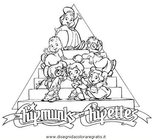 Disegno Alvin Chipmunk 12 Personaggio Cartone Animato Da Colorare
