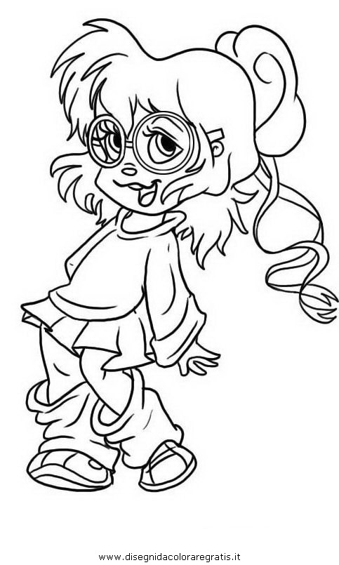 the chipettes coloring pages free - photo#23