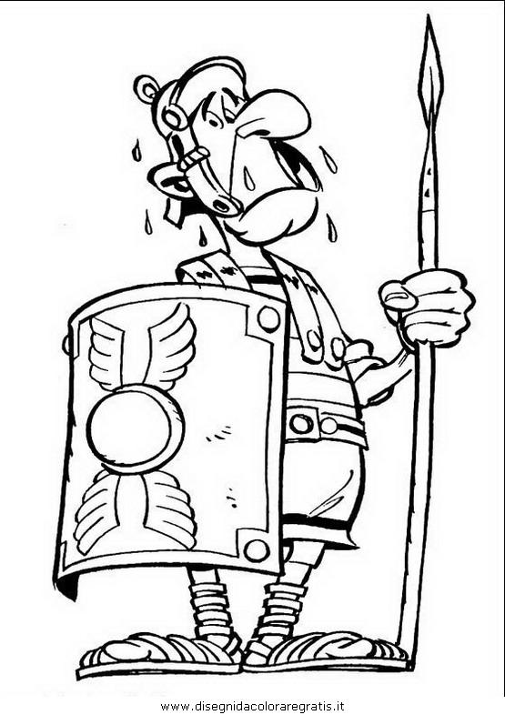 Disegno asterix personaggio cartone animato da colorare