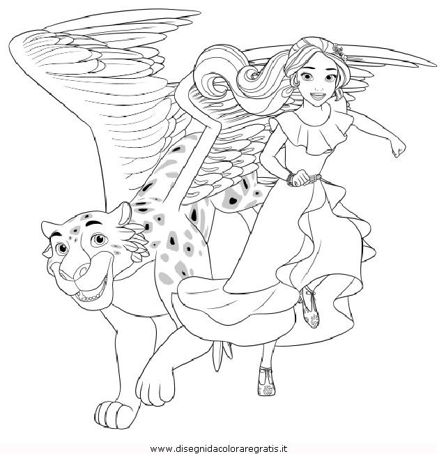 Disegno elena avalor personaggio cartone animato da