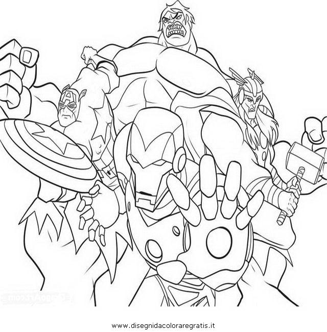 Disegno Avengers 07 Personaggio Cartone Animato Da Colorare