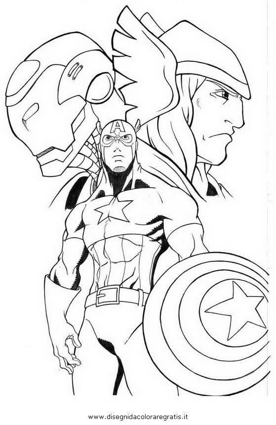 Disegno avengers 10 personaggio cartone animato da colorare for Colorare avengers