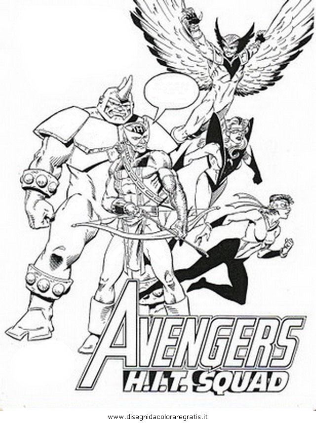 Disegno Avengers 14 Personaggio Cartone Animato Da Colorare