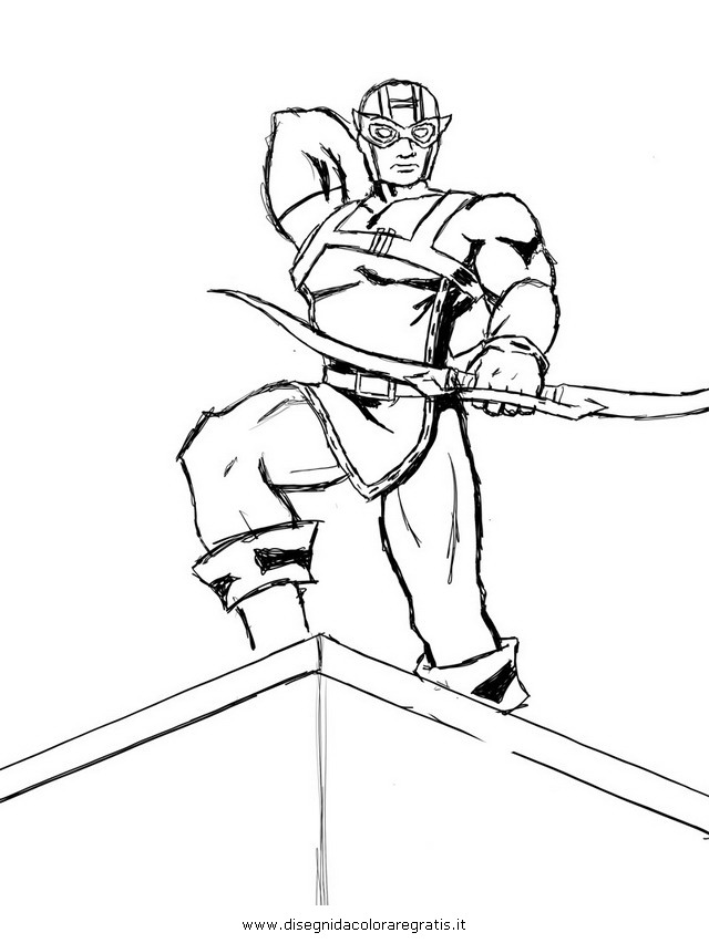 Hawkeye From The Avengers Colouring Pages Page 2