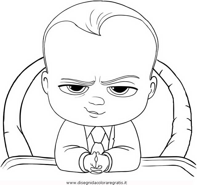 Disegno baby boss personaggio cartone animato da colorare