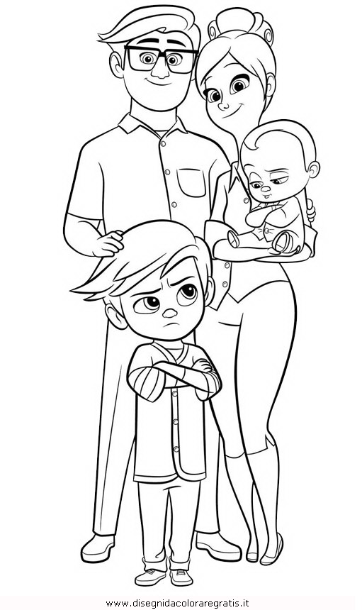 Disegno Baby Boss 13 Personaggio Cartone Animato Da Colorare
