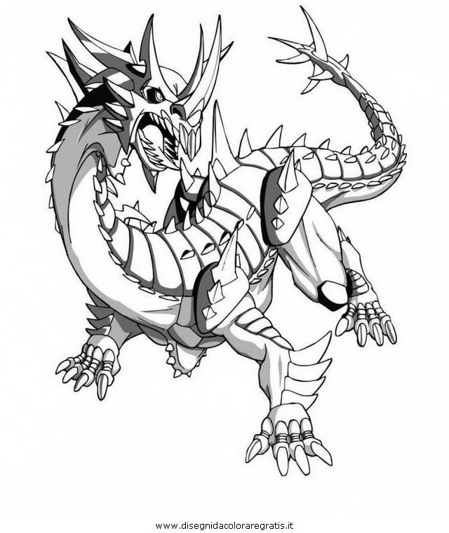 Disegno Bakugan10 Personaggio Cartone Animato Da Colorare