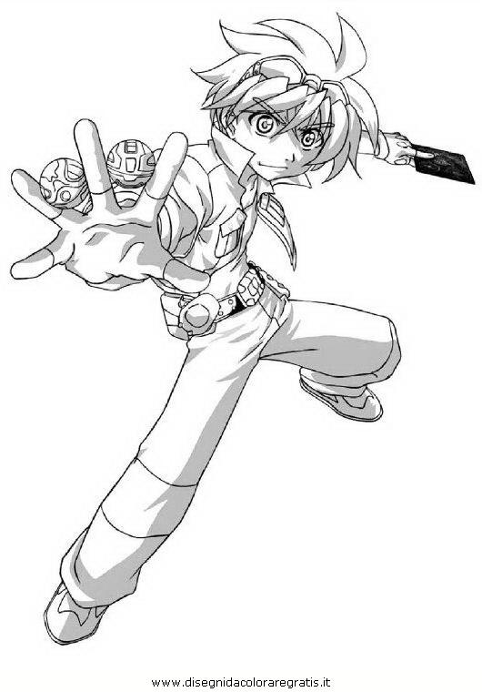 Disegno bakugan personaggio cartone animato da colorare