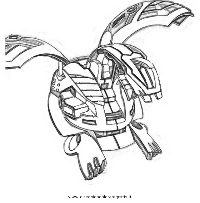 Disegno bakugan helios personaggio cartone animato da for Bakugan coloring book pages