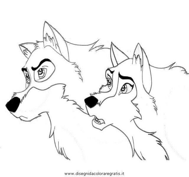 Disegno balto personaggio cartone animato da colorare