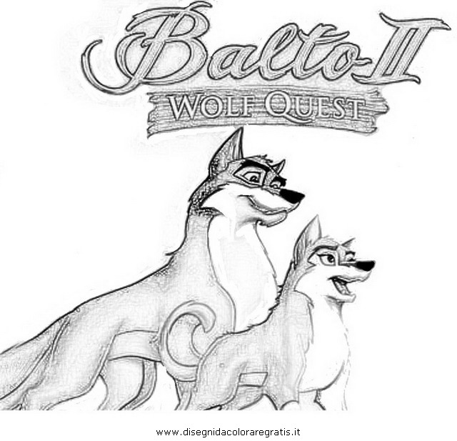 Balto coloring pages online
