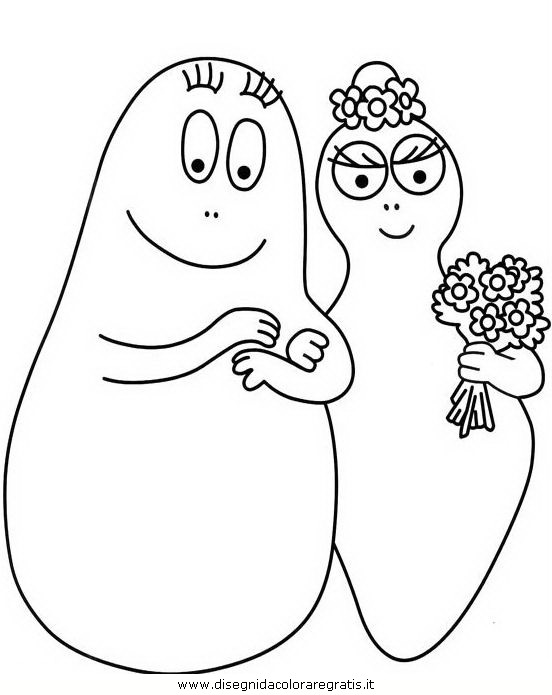 Disegno barbapapa personaggio cartone animato da colorare