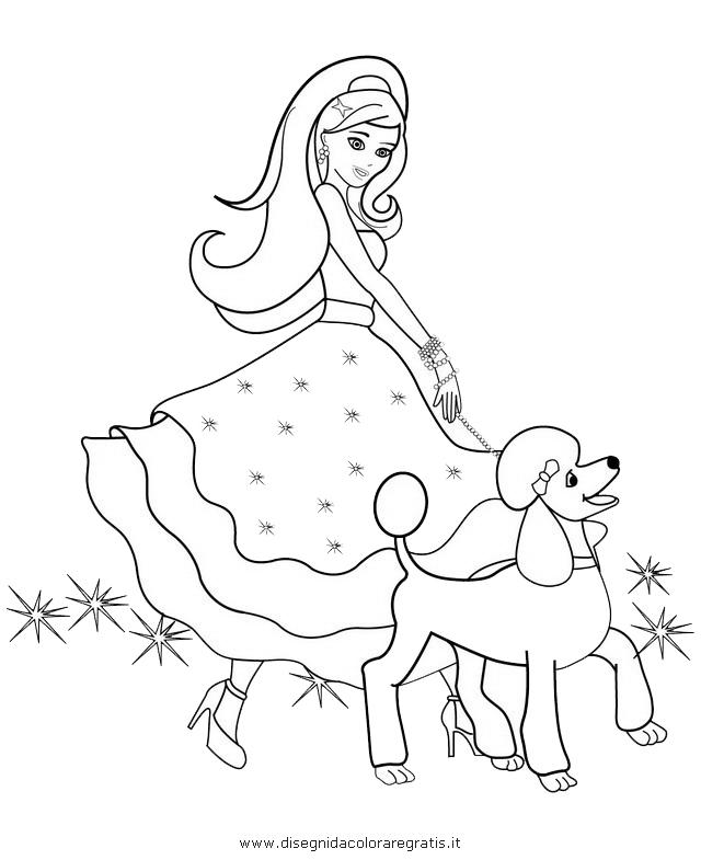 Disegno barbie magia moda personaggio cartone animato da for Disegni barbie da colorare gratis