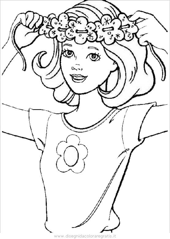 Disegno barbie personaggio cartone animato da colorare