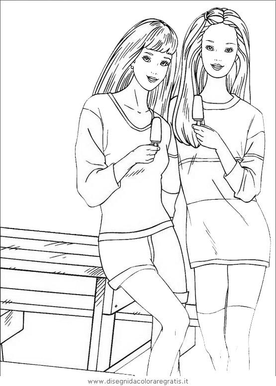 Disegno Barbie084 Personaggio Cartone Animato Da Colorare