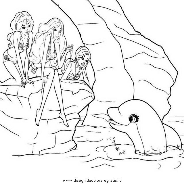 Disegno Barbie Merlia Merliah 23 Personaggio Cartone Animato Da