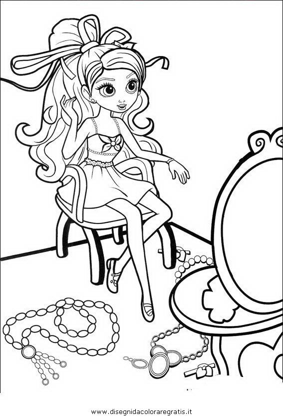 Disegno barbie pollicina personaggio cartone animato