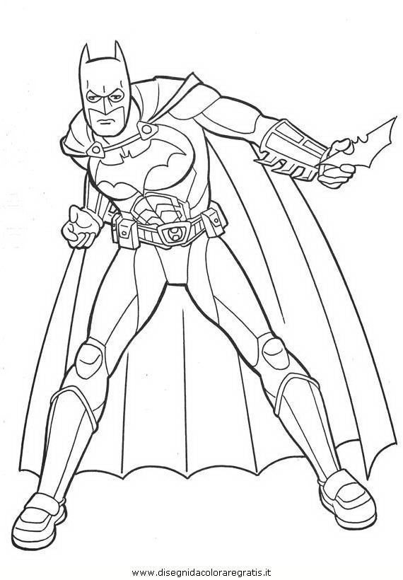 Disegno Batman Supereroe Personaggio Cartone Animato Da Colorare