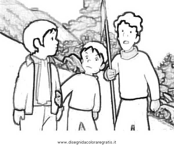 Disegno belle sebastien personaggio cartone animato da