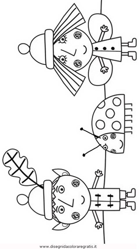 Disegno ben holly personaggio cartone animato da colorare