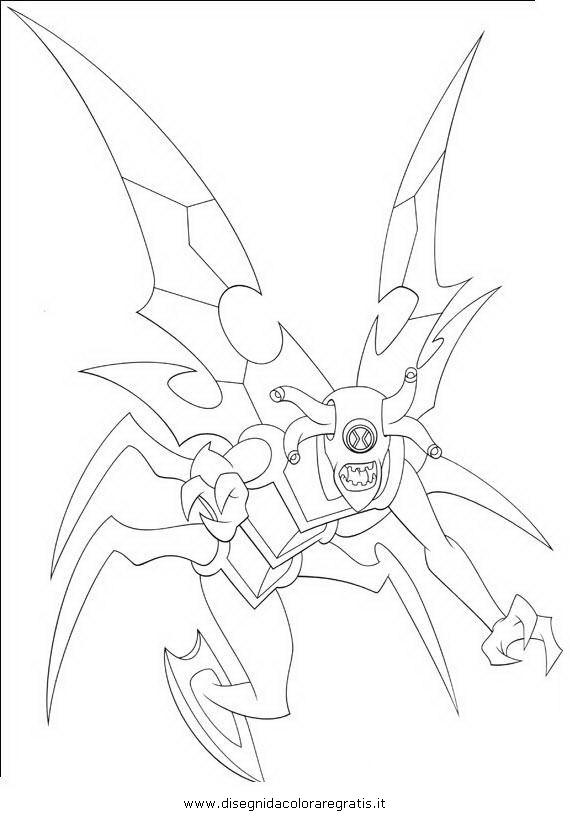 Disegno Ben10 044 Personaggio Cartone Animato Da Colorare