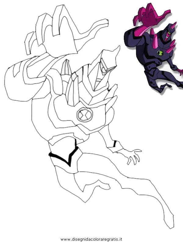 Disegno ben10 047 personaggio cartone animato da colorare for Ben 10 immagini da colorare