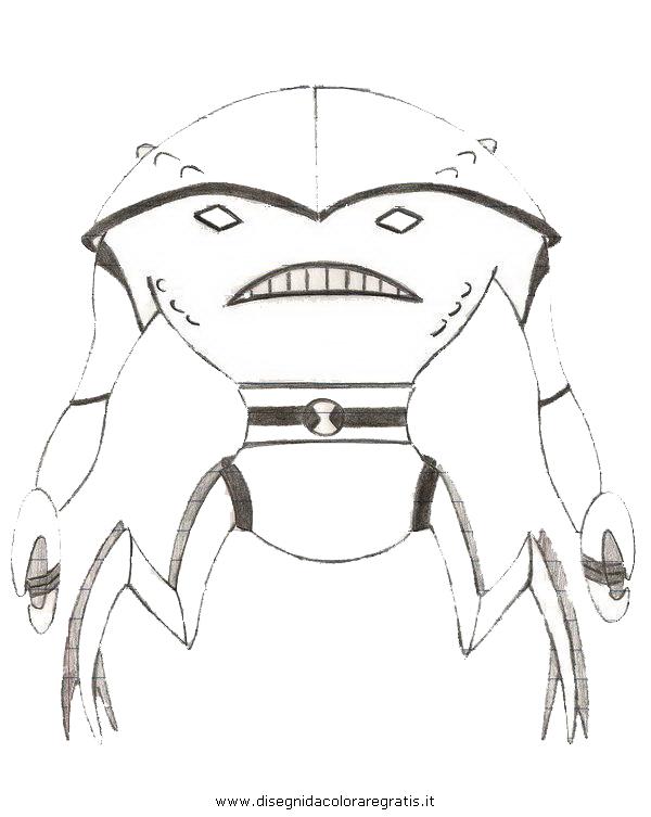 Disegno ben personaggio cartone animato da colorare