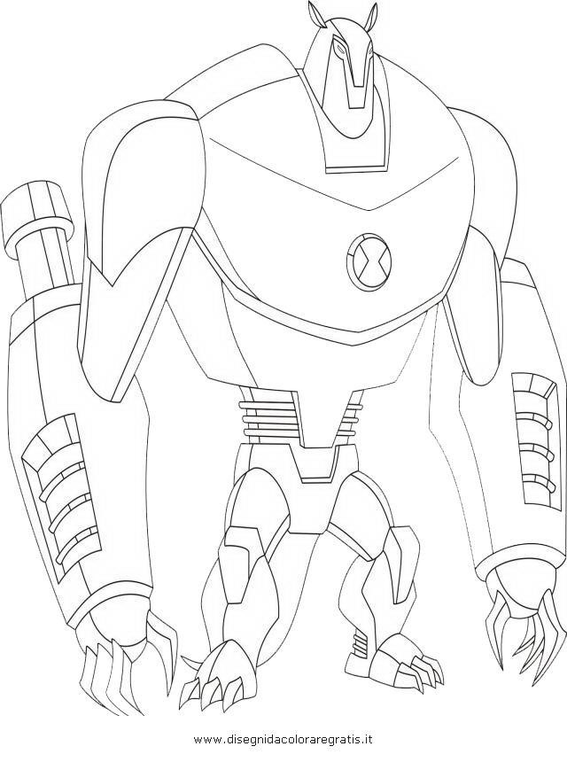 Disegno ben10 125 armodrillo 02 personaggio cartone for Immagini di ben ten da colorare