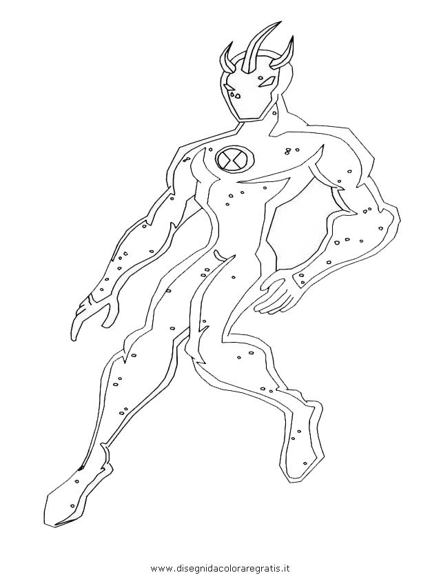 Disegno ben alien personaggio cartone animato da colorare