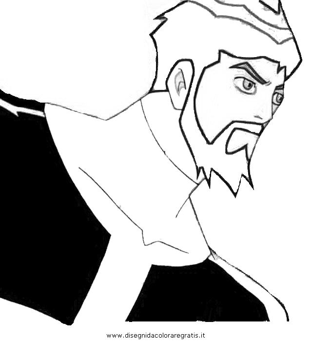 Disegno ben supremo personaggio cartone animato da