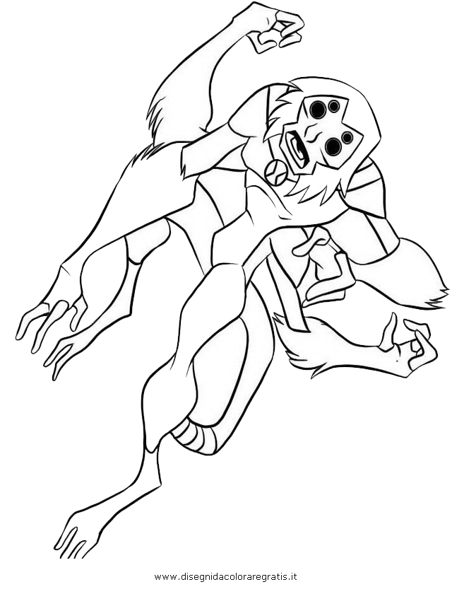 ben 10 coloring pages goop - photo#15