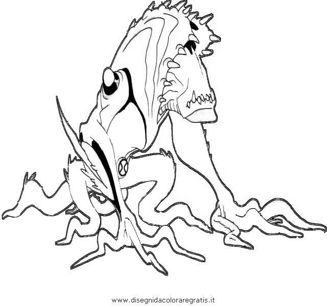 Disegno ben10 fusione 035 personaggio cartone animato da for Ben 10 immagini da colorare