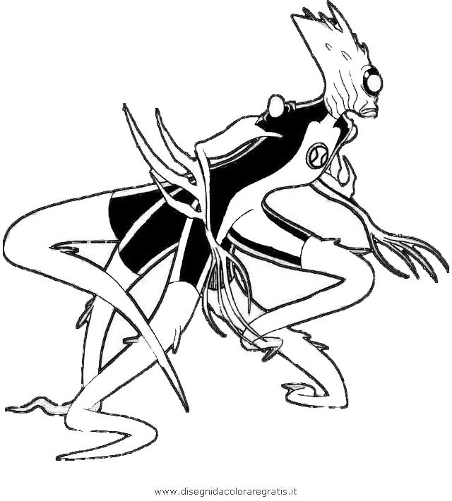 Disegno ben fusione personaggio cartone animato da