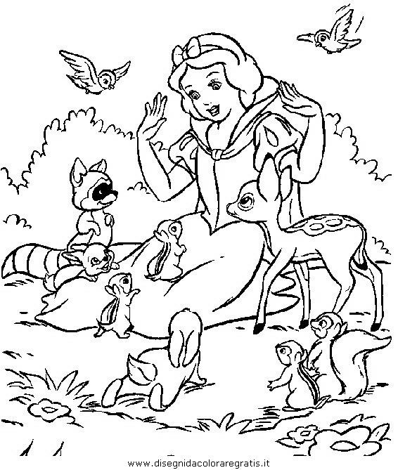 Disegno Biancaneve27 Personaggio Cartone Animato Da Colorare
