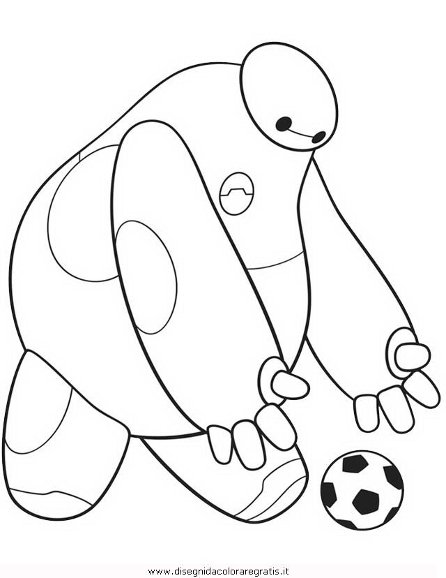 Disegno bigheroes personaggio cartone animato da colorare