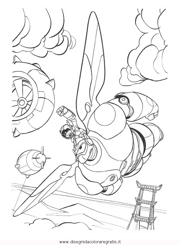 Disegno Bigheroes6 08 Personaggio Cartone Animato Da Colorare
