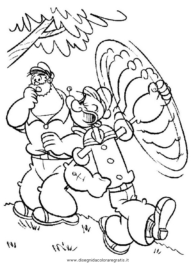 Disegno braccio di ferro personaggio cartone animato
