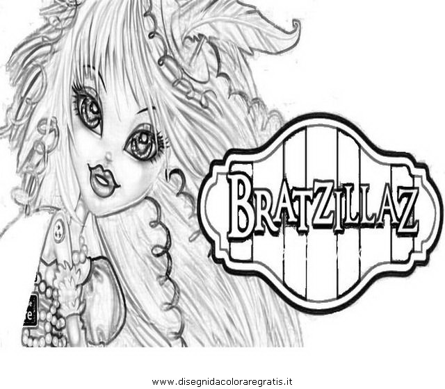 bratzillaz coloring pages online - photo#4
