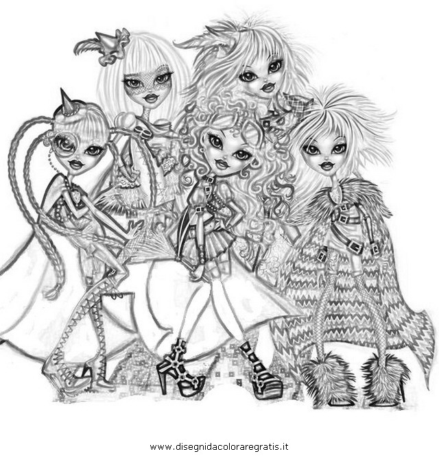 bratzillaz coloring pages online - photo#10