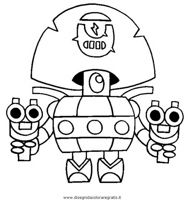 Disegno Brawlstars20 Personaggio Cartone Animato Da Colorare