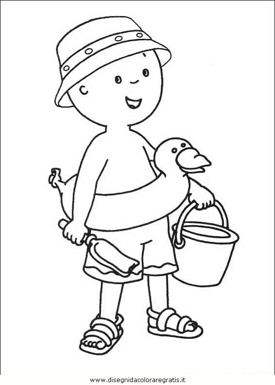 Disegno caillou 12 personaggio cartone animato da colorare - Cartoni animati mare immagini ...