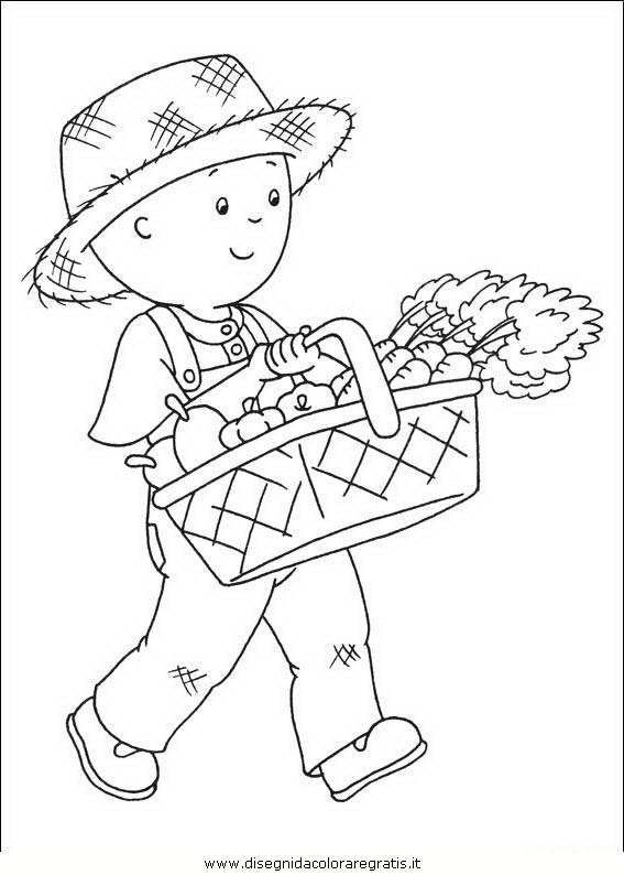 Disegno caillou personaggio cartone animato da colorare