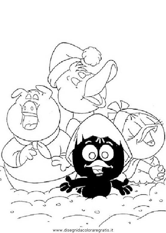 Disegno calimero personaggio cartone animato da colorare