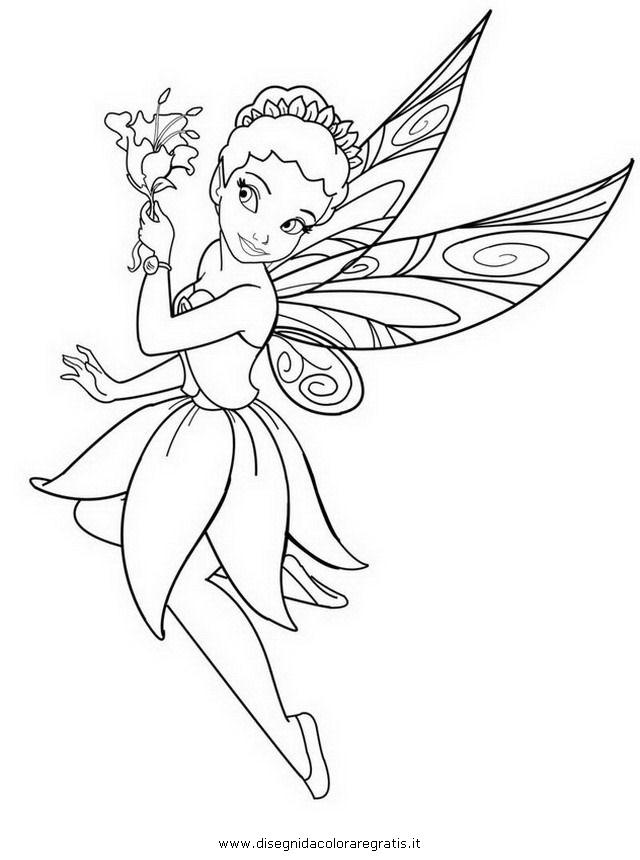 Disegno iridessa personaggio cartone animato da colorare for Cartone animato trilli