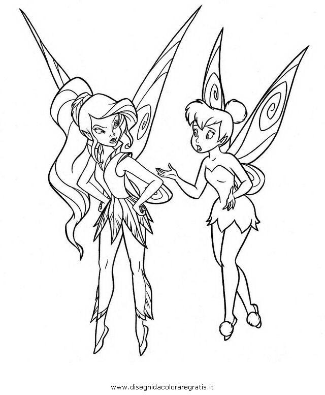 Disegno trilly vidia personaggio cartone animato da colorare for Cartone animato trilli