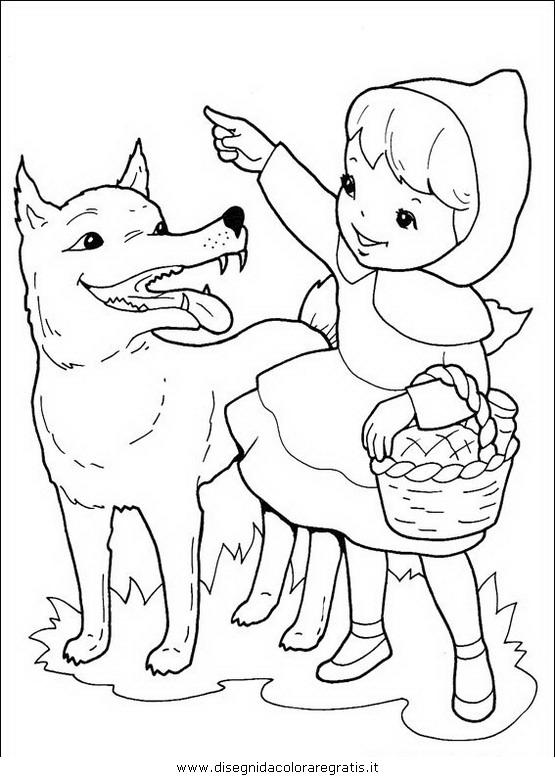 Disegno Cappuccetto Rosso 01 Personaggio Cartone Animato Da Colorare