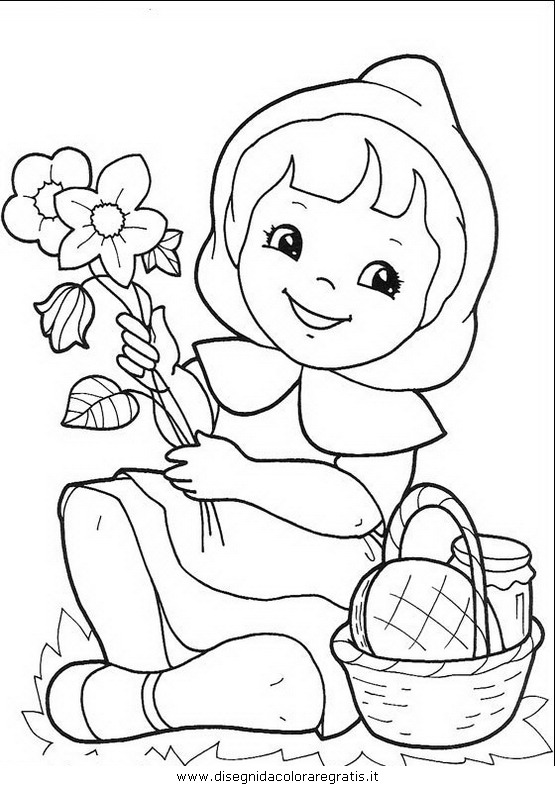 Disegno cappuccetto rosso 04 personaggio cartone animato for Cappuccetto rosso da colorare